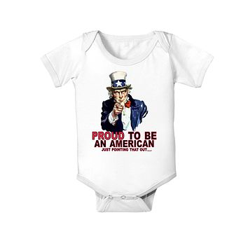 Uncle Sam Proud to be an American Baby Bodysuit One Piece