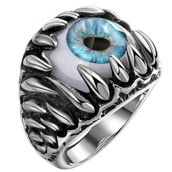 Dragon Claw Evil Eye Stainless Steel Ring