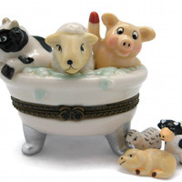 Children's Jewelry Boxes Cow, Sheep, Pig Bathtub