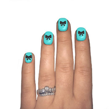 Nail Art Bows Decal by NovemberIndustries on Etsy