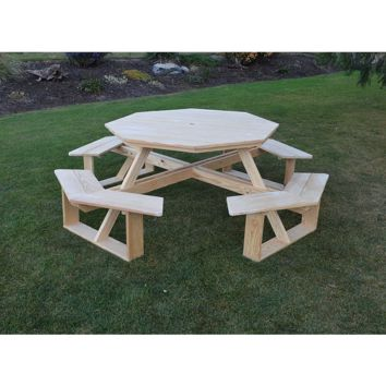 "A & L FURNITURE CO. Pressure Treated Pine 54"" Octagon Walk-In Table  - Ships FREE in 5-7 Business days"