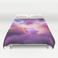 The Skies Are Painted (Cloud Galaxy) Duvet Cover by Soaring Anchor Designs
