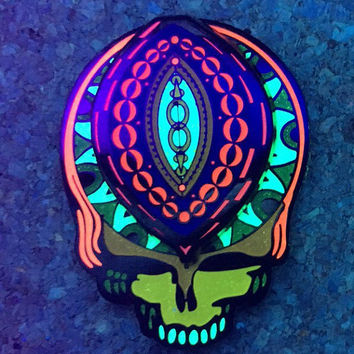 Grateful Dead Steal Your Face Hard Enamel Spinner Pin