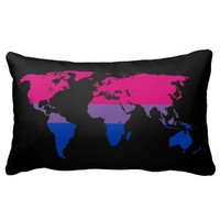 Bisexuality pride world map Pillow