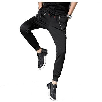 2017 High Quality Jogger Pants Men Fitness Bodybuilding Trousers For Runners Clothing Autumn Sweat Trousers Britches 4XL