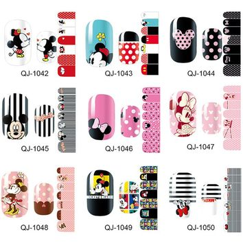 New Trendy Products Nail Art Stickers Mickey Nail Wraps Full Cover Nails Accessories Polish Decals DIY Manicure Beauty Gift