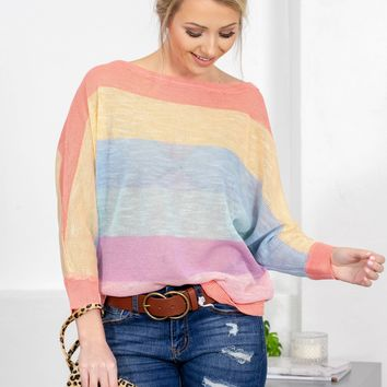 Candy Rainbow Knitted Sweater