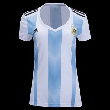 KUYOU Argentina 2018 World Cup Home Women Soccer Jersey Personalized Name and Number