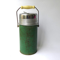 Vintage mid century 1950s large picnic thermos