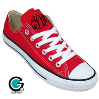 Monogrammed Converse Tennis Shoes