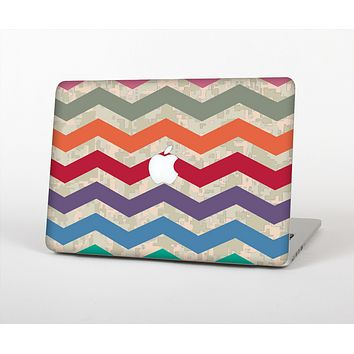 The Rainbow Chevron Over Digital Camouflage Skin for the Apple MacBook Air 13""