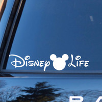 Disney Life Decal | Disney Vacation | Disney Decals | Walt Disney World Decals | Disney Addict | Disney Fanatic Decals | Preppy Decal | 147