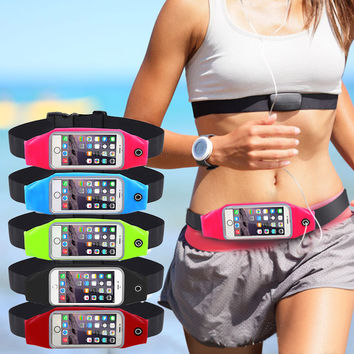 Gym Waist Bag Waterproof Sport Case For iPhone 6 6S 7 Plus Samsung Galaxy Grand Prime J5 S6 S5 Running Wallet Mobile Phone Pouch