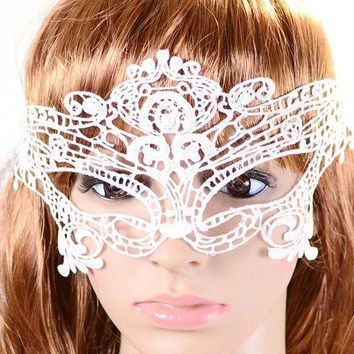 Vintage Hollowed Lace Party Mask