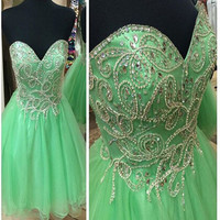 Green Homecoming Dress Sweetheart Style