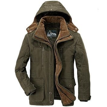 Winter jacket men Brand Warm Thick Military Leisure Army Jackets Men's Outdoors Coat