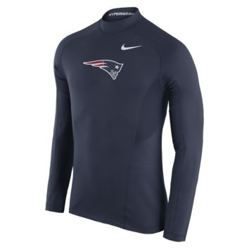 Nike Pro Hyperwarm Max Fitted (NFL Patriots) Men's Training Top