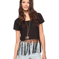 Fringed Crop Tee | FOREVER21 - 2000038110