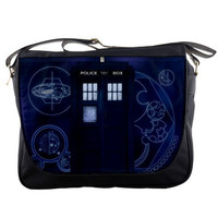 Dr Who Tardis 14 Messenger Bag Shoulder Sling School by PickBags