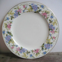 Vintage Plate Andrea by Sadek Pastel Floral Plate Made in Japan Gilded in Gold Cottage Decor