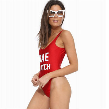 BAE WATCH women swimsuit 2015 bodysuit one piece swimwear women sexy beach swimw