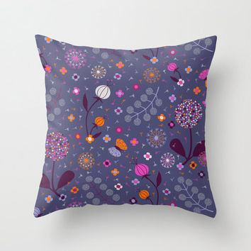 Floral dandelion Pillow Case