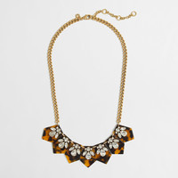 Factory crystal and tortoise necklace : Jewelry | J.Crew Factory