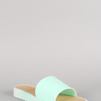 Qupid Jelly Open Toe Flatform Sandal