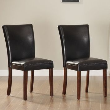 HomeVance 2-pc. Dining Chair Set (Brown)