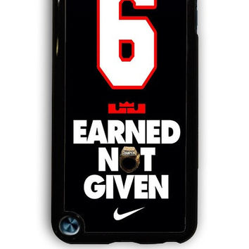 IPod 5 Case - Hard (PC) Cover with Lebron James Superstar Miami Heat Plastic Case Design
