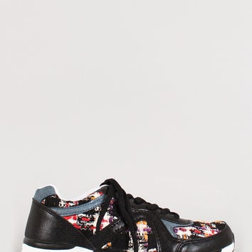 Misbehave Round Toe Lace Up Sneaker