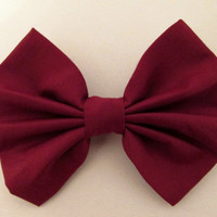 Hair Bow Maroon Burgundy Hair Bow Wine red hair bow hairbow
