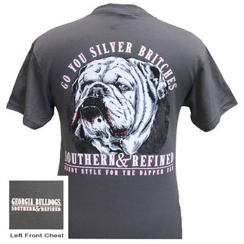 SALE Georgia Bulldogs Southern & Refined Girlie Bright T Shirt