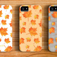 Fall Leaves iPhone 6 Case iPhone 5 Case iPhone 5C Case iPhone 4 Case Samsung Galaxy s5 Case iPhone Hard Plastic Case