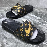 LV NIKE BENASSI SWOOSH Summer beach slippers