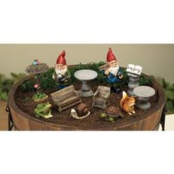 6/Set, Resin Garden Gnome Scene, Assorted - *FREE SHIPPING*