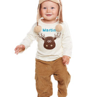 Mud Pie-Moose Pant Set,  (9-12 Mth)