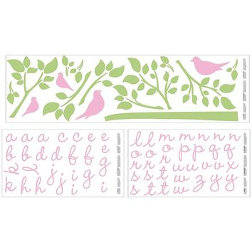 Wendy Bellissimo Gracie Wall Decals (Pink/Green)