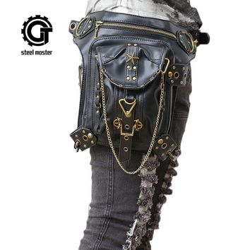 Steampunk Bags Gothic  Shoulder Bag Punk Waist Pack Cosplay