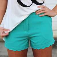Scalloped Shorts {Emerald}