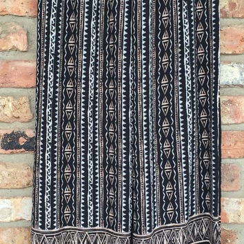 Taupe, Black & White Tribal Print Palazzo Pants *FINAL SALE!*