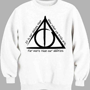 Deathly Hallows Black Sweater for Mens Sweater and Womens Sweater *