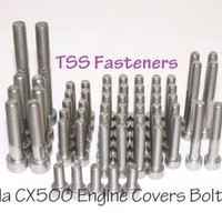 Honda CX500/CX 500 / Custom/Eurosport - Full Engine Covers Bolts Set - S/Steel | eBay