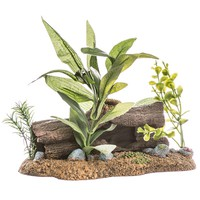 Blue Ribbon Pet Products Exotic Environments Log Cavern Jungle Floral Aquarium Ornament Aquarium Coral & Anemones Ornaments