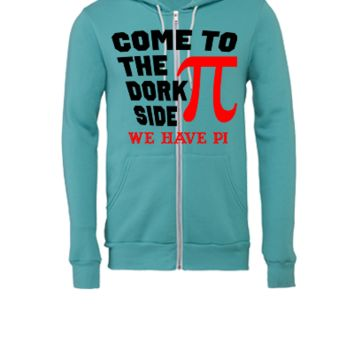 Come to the Dork Side - Unisex Full-Zip Hooded Sweatshirt