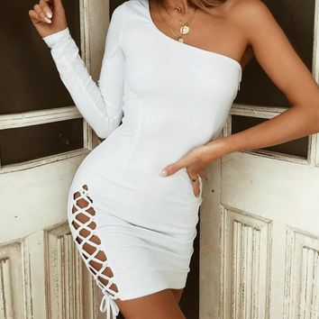 Camilla One-Shouldered Criss-Cross Dress