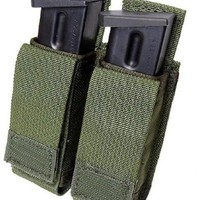 Tactical Assault Gear MOLLE Enhanced Magnet Pistol Double Magazine Pouch - Ranger Green MPU2-RG