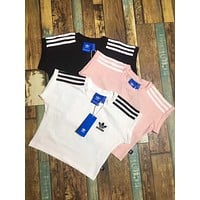 Adidas navel bunt head T-shirt