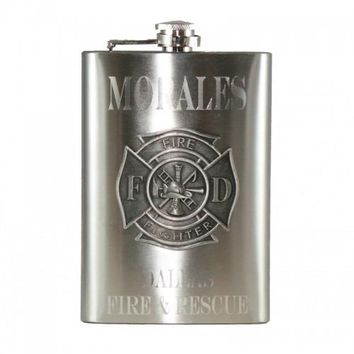Personalized Firefighter Flask