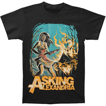 Asking Alexandria Men's  Am I Insane Slim Fit T-shirt Black